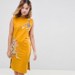 ASOS PETITE Sleeveless Dress with Embroidery